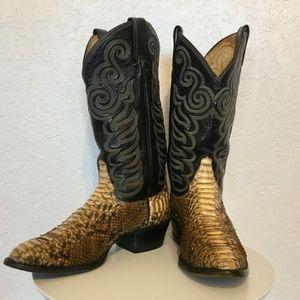 Tony Lama vintage snakeskin boots mens 9